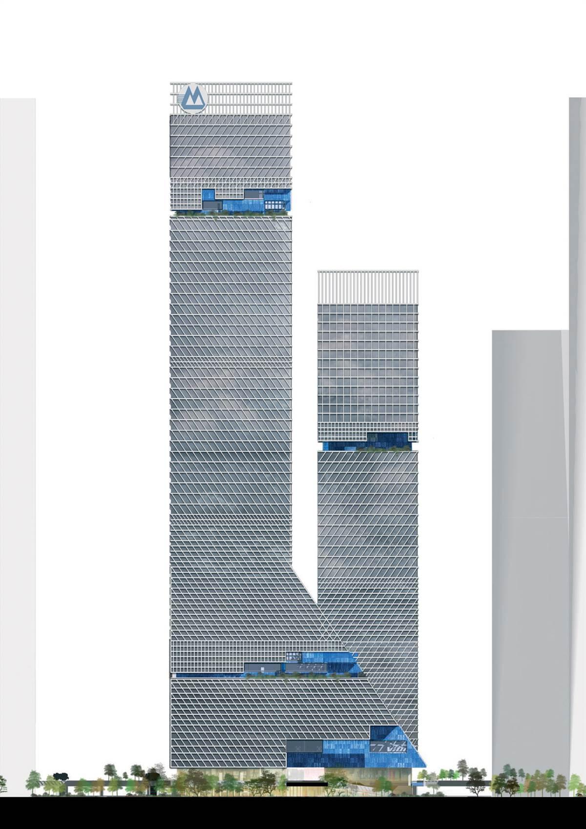 Design Bank Oranje.Global Headquarters Of China Merchants Bank