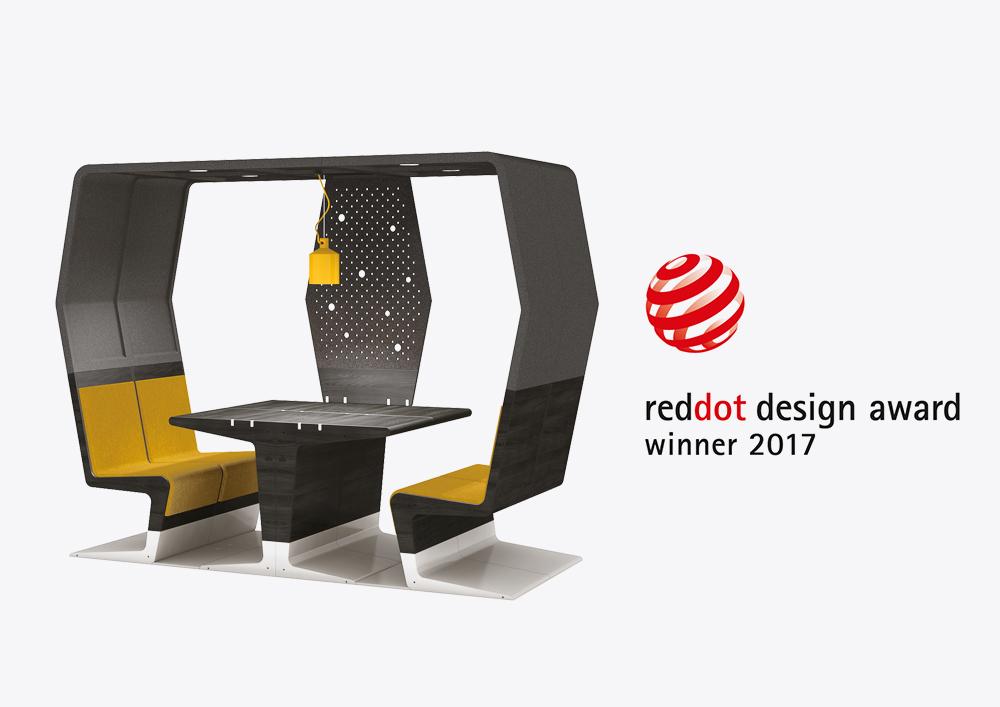 mecanoo and gispen win red dot award for hubb mecanoo. Black Bedroom Furniture Sets. Home Design Ideas