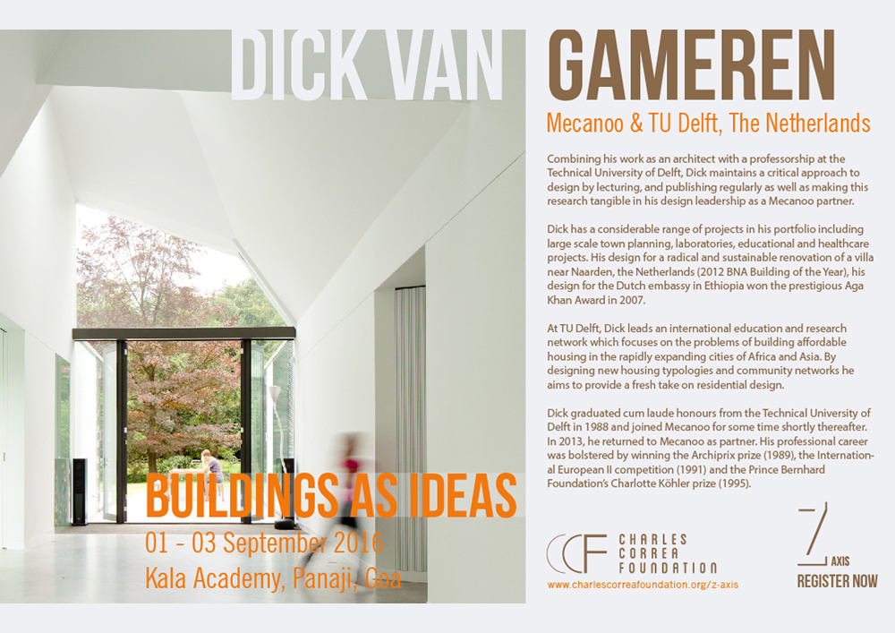 19 08 2016 Dick van Gameren to speak at Z Axis Conference in India