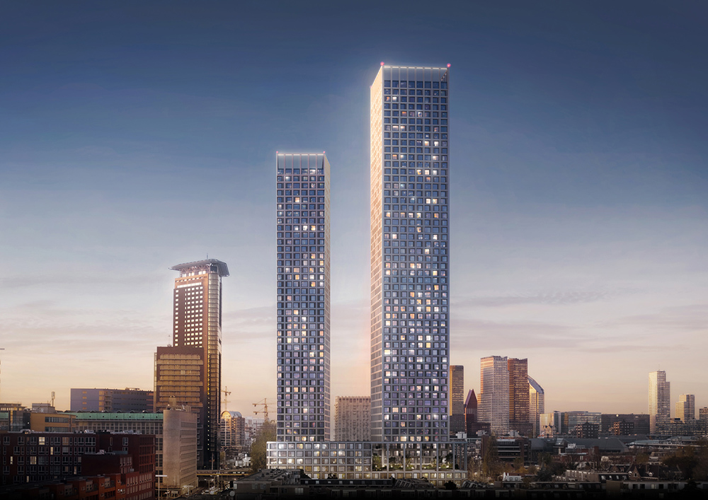 2019 04 11 Mecanoo designs harmonious two tower ensemble in The Hague 1