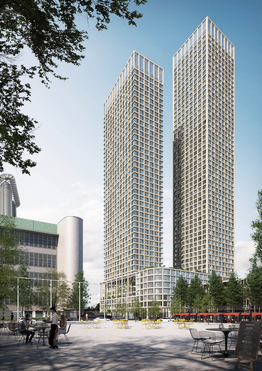2019 04 11 Mecanoo designs harmonious two tower ensemble in The Hague 2