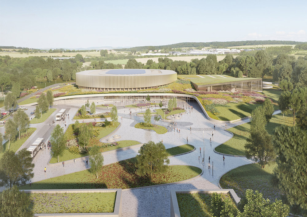 24 09 2018 Mecanoo and Metaform wins Mondorf-les-Bains Velodrome and Sports Complex  1