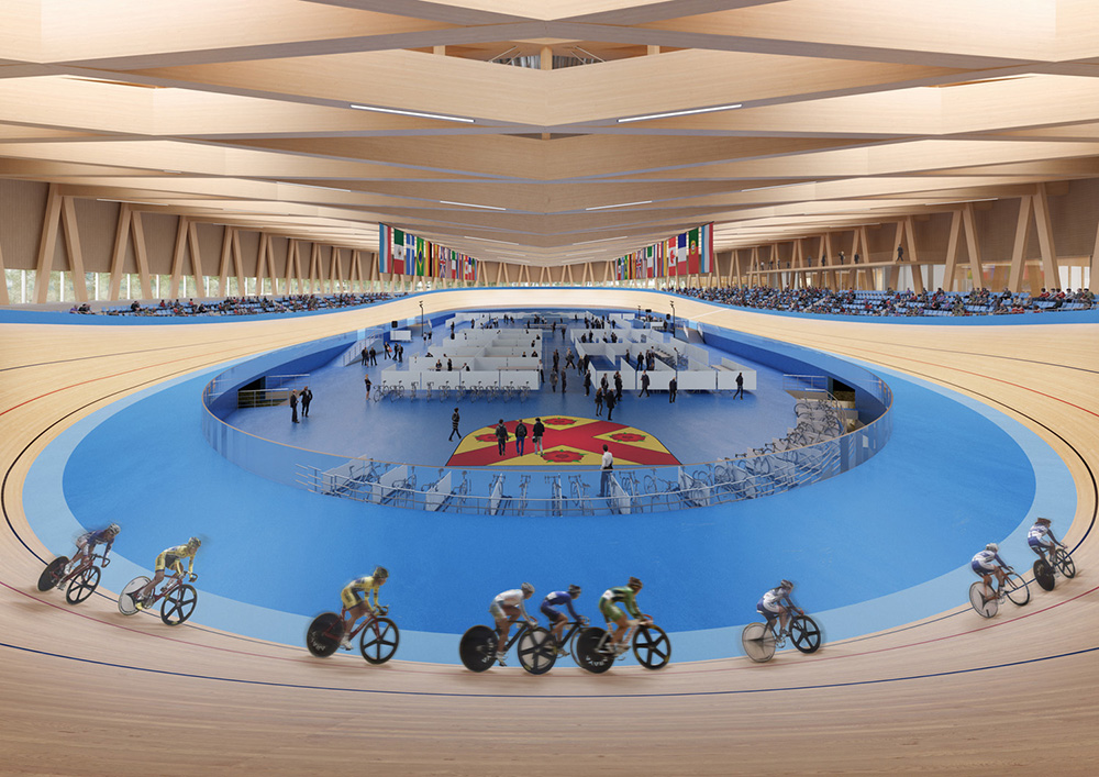 24 09 2018 Mecanoo and Metaform wins Mondorf-les-Bains Velodrome and Sports Complex  2
