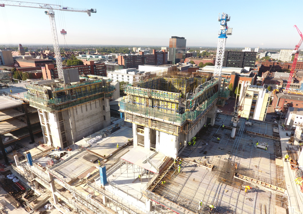 24 09 2018 Mecanoo's Manchester Engineering Campus Development Tops Out 0