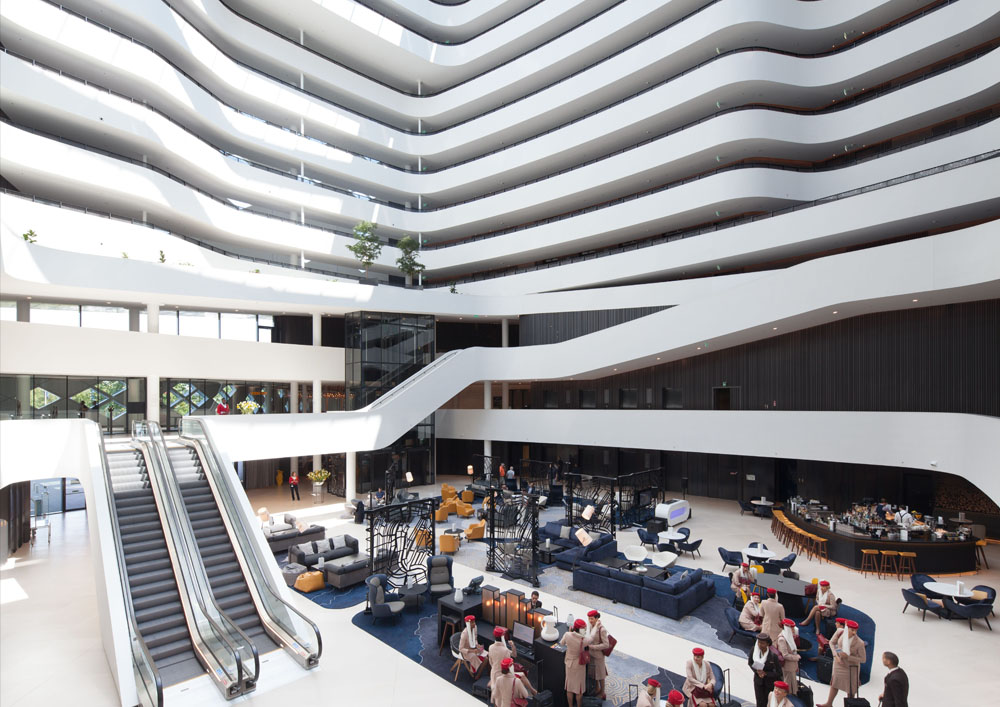 Hilton amsterdam airport schiphol wins european hotel for Design hotel awards