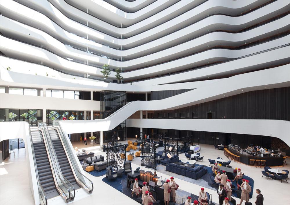 Hilton amsterdam airport schiphol wins european hotel for Hotel design europe