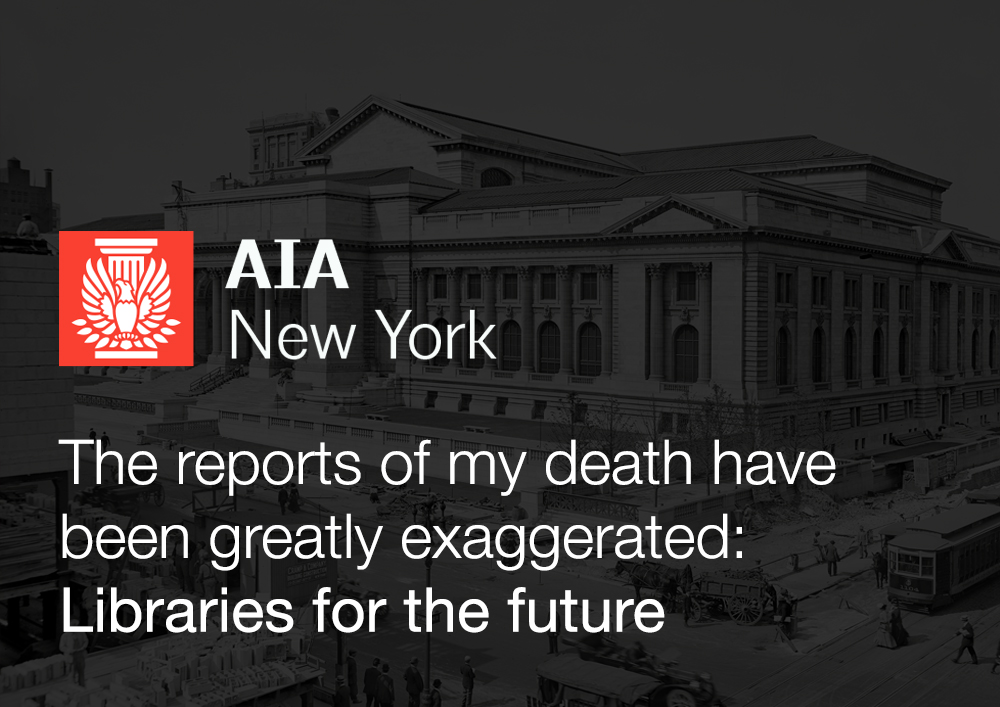 27 10 2016 Francine Houben talks about libraries for the future in New York