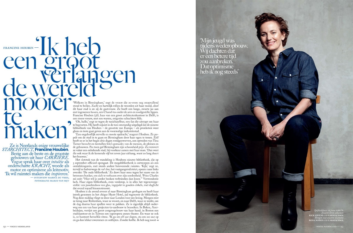 2013 08 01 Vogue Francine Houben article August