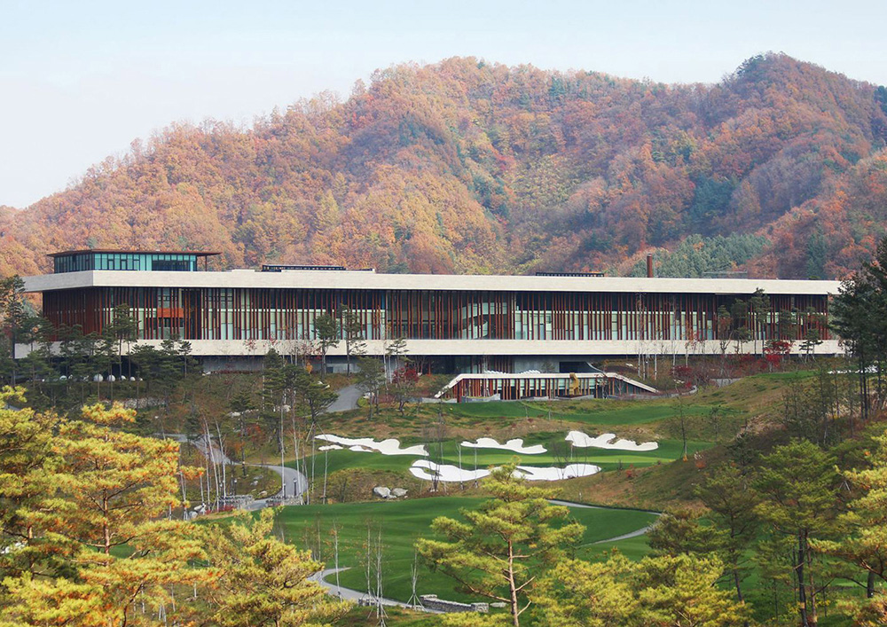 Whistling Rock Golf Clubhouse, Chuncheon, South Korea.  video